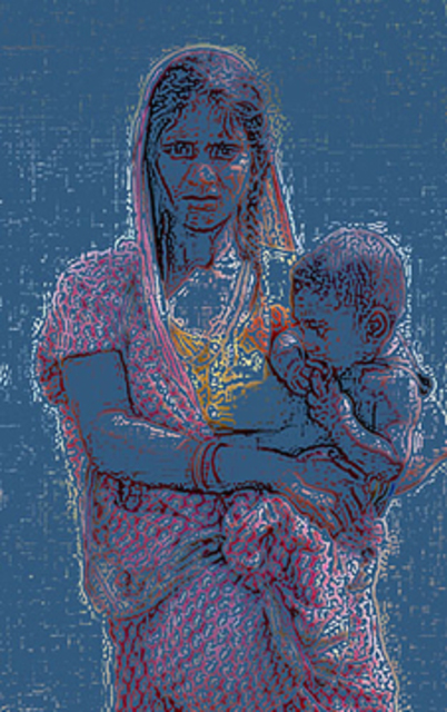 Ajeet Kumar Shaah  'Mother  And  Child', created in 2010, Original Digital Art.