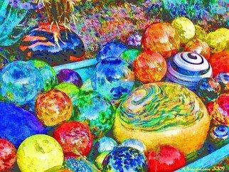 Alan Vaughn Artwork Glass Balls, 2009 Glass Balls, Abstract Landscape