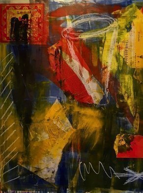 Angela Kirkner: 'Chaos', 2020 Mixed Media, Abstract. Mixed media on Masonite ...