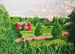 Landscape Acrylic Painting by Alan Hogan Title: Aland  Landscape, created in 2008