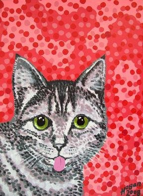 Cats Acrylic Painting by Alan Hogan Title: Finnish Cat, created in 2008