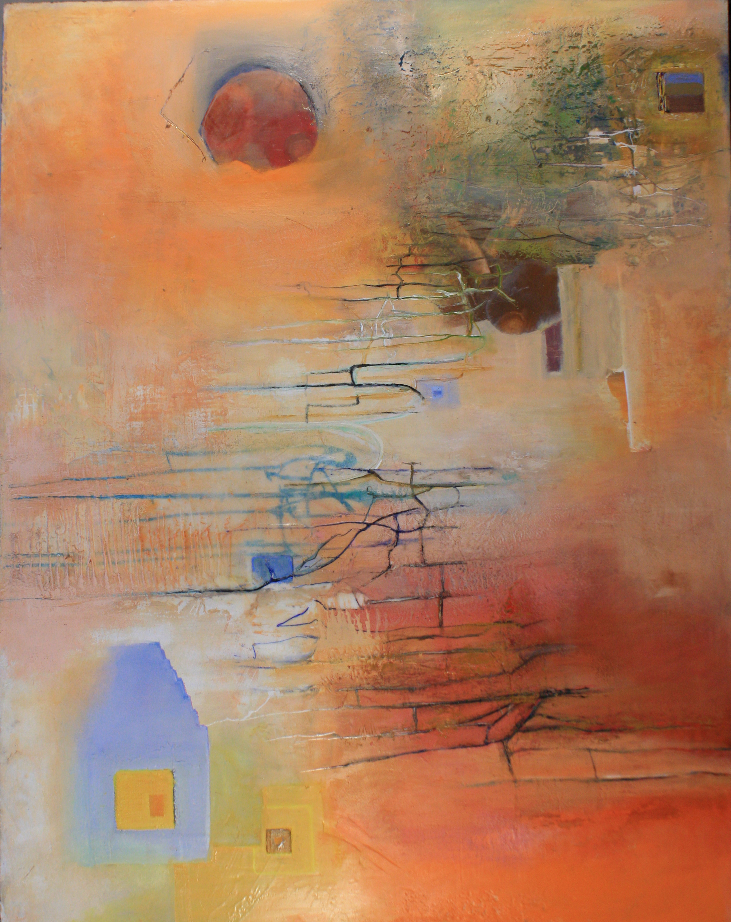 Alan Soffer Artwork The Open Door, 2010 Encaustic Painting, Abstract
