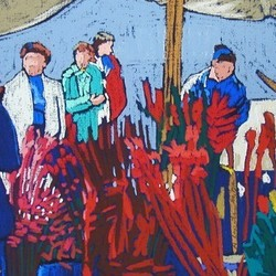 , At The Market Iii, Figurative, $1,155