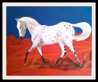 Alberto Texier Artwork apaloosa, 2017 Acrylic Painting, Animals