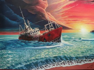 Alejandro Del Valle Artwork After the Storm, 2013 Acrylic Painting, Seascape
