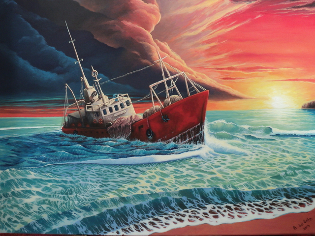 Alejandro Del Valle  'After The Storm', created in 2013, Original Painting Oil.