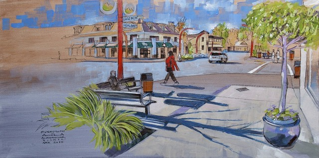 Aleksandar - Atza Visnjic  'Edgemont Village 2', created in 2010, Original Painting Oil.
