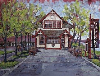 Artist: Aleksandar - Atza Visnjic - Title: Ferry Building Gallery 2 - Medium: Acrylic Painting - Year: 2010
