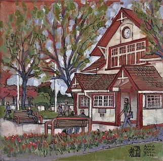 Artist: Aleksandar - Atza Visnjic - Title: Ferry Building Gallery 3 - Medium: Acrylic Painting - Year: 2010