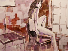 - artwork Melissa-1295502935.jpg - 2010, Painting Acrylic, Figurative
