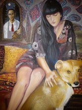 - artwork Aleksandra_and_Valerio-1305059827.jpg - 2011, Painting Acrylic, Figurative