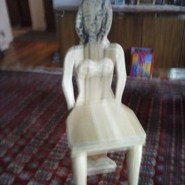 Alex Sterin: 'famous lady ', 2015 Wood Sculpture, Abstract.