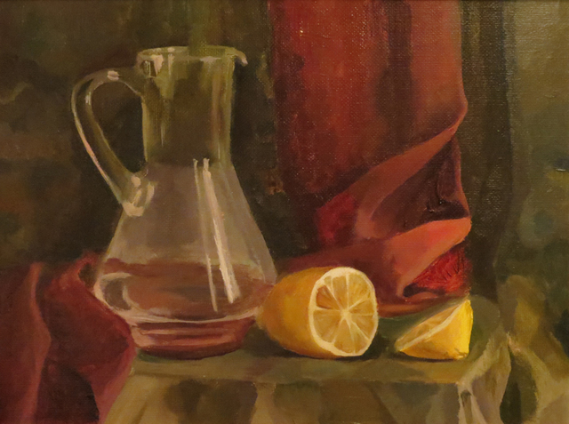 Alexander Filippovich  'Still Life With A Lemon', created in 2016, Original Painting Acrylic.