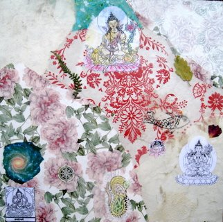 Collage by Alexandra Von Hellberg titled: Bodhisattva, created in 2008
