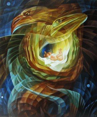 Artist: Alexandra Schastlivaya - Title: Birth of the Abyss  - Medium: Oil Painting - Year: 2014