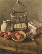 - artwork Pomegranates_with_18th_Century_Birdcage_II-1245476443.jpg - 2005, Painting Oil, Still Life