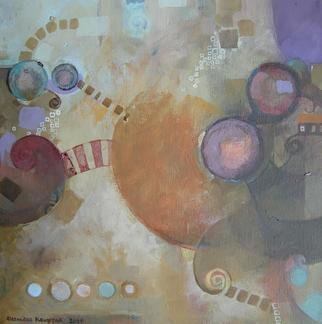 Alexandra Kruglyak-zecevic: 'Kavalkada', 2009 Acrylic Painting, Abstract.  This abstract artwork has painted sides, combination of warm beiges, wine and blues. ...