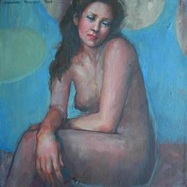 Alexandra Kruglyak-zecevic: 'Nasturcia', 2009 Acrylic Painting, nudes. Artist Description:  This painting has painted sides, therefore it can be displayed with or without the frame. ...