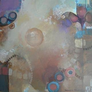 Alexandra Kruglyak-zecevic: 'Night lights', 2009 Acrylic Painting, Abstract.   This abstract artwork has painted sides, combination of warm beiges, wine and blues. Looks perfect unframed as well as framed.  If purchased two paintings together - $350 ...