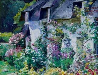 Alexandra Kruglyak-zecevic Artwork Summer cottage, 2000 Oil Painting, Landscape
