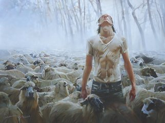 Alexey Chernigin Artwork shepherd, 2015 Oil Painting, Philosophy