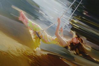 Alexey Chernigin Artwork swing, 2014 Oil Painting, Flight