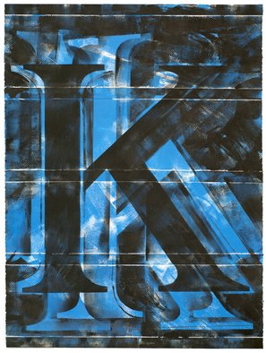 Alexey Klimov Artwork ASKING TRIPTYCH K, 2014 Ink Painting, Abstract