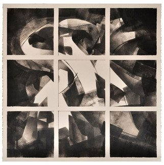Alexey Klimov Artwork ASKING x FOUR in BLACK and WHITE, 2014 Ink Painting, Abstract