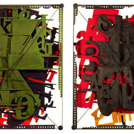 Alexey Klimov Artwork LETTERBOX DIPTYCH, 2013 Mixed Media Sculpture, Abstract