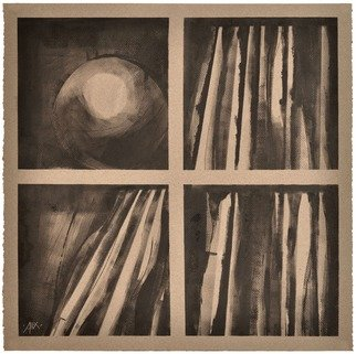 Alexey Klimov: 'SHELVING IN GRAY', 2014 Ink Painting, Abstract. Artist Description:  This is a triptych of 3 paintings on paper. IaEURtmve always admired the way an object, any object at all, being instantly glorified once placed inside book shelves. They provide a kind of 3- dimensional housing adding significance to otherwise mundane, very much the same way a ...
