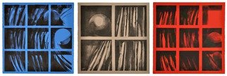 Alexey Klimov Artwork SHELVING TRIPTYCH, 2014 Ink Painting, Abstract