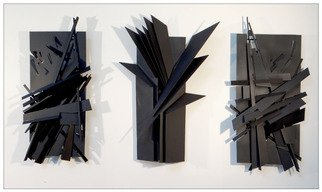 Alexey Klimov: 'TRIPTYCH', 2015 Steel Sculpture, Abstract. Artist Description:        This welded steel triple- piece wall sculpture is obviously a triptych: it has a commanding center panel, which strongly unites the whole group creating, what I call, asymmetrical symmetry. In fact, all components here are totally different and just the overall composition is symmetrical. This triptych blends harmoniously ...