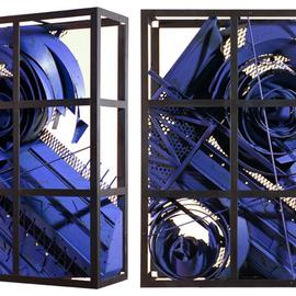 Alexey Klimov Artwork past continuous in blue, 2009 Steel Sculpture, Abstract