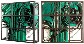Alexey Klimov: 'past continuous in green', 2009 Steel Sculpture, Abstract. Artist Description: This collection of 4 wall sculptures reflects my fascination with the timeless nature of most visually captivating architectural detail of the ancient past graduating into contemporary Post- Modern. This is where the name