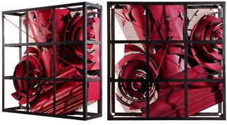 Alexey Klimov Artwork past continuous in red, 2009 Steel Sculpture, Abstract