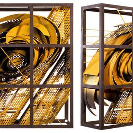 Alexey Klimov Artwork past continuous in yellow, 2009 Steel Sculpture, Abstract