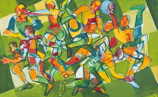 Artist: Aleksey Yesyunin - Title: game - Medium: Oil Painting - Year: 2011
