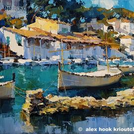 Alex Hook Krioutchkov: 'Cala Figuera XXI', 2017 Oil Painting, Seascape. Artist Description: Painting. Oil on canvas. One of a kind. Signed. ...