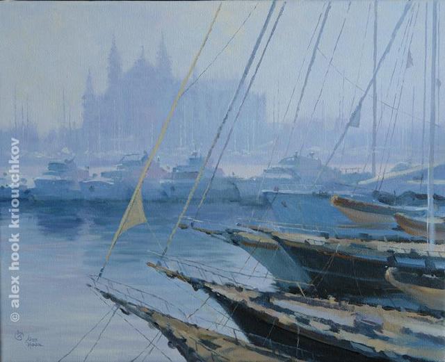 Alex hook krioutchkov 39 puerto de palma de mallorca 39 painting oil artwork marine art for sale - Puerto de palma de mallorca ...
