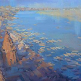 Alex Hook Krioutchkov: 'Varanasi VI', 2010 Oil Painting, World Culture. Artist Description: oriental, abstract figurative, World Cultures, ethnic, expressionism, figurativo, expresionismo, India, world places, cityscape, pueblos, realism, ...