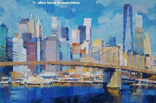 Alex Hook Krioutchkov: 'new york v', 2019 Oil Painting, Architecture. Painting.  Oil on canvas.  One of a kind.  Signed...