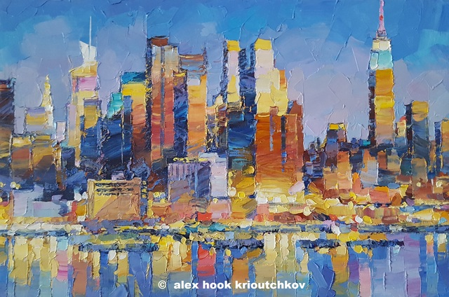 Alex Hook Krioutchkov  'New York Xxi', created in 2019, Original Painting Oil.