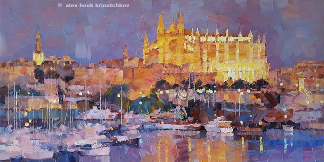 Artist Alex Hook Krioutchkov. 'Palma De Mallorca Xv' Artwork Image, Created in 2019, Original Painting Oil. #art #artist