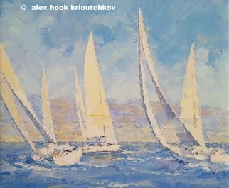 Alex Hook Krioutchkov: 'regata iii', 2017 Oil Painting, Seascape. Artist Description: Painting. Oil on canvas. One of a kind. Signed. PRICE - contact artist. ...