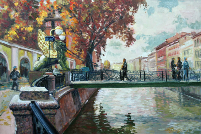 Alexander Bezrodnykh  'Autumn', created in 2017, Original Painting Oil.
