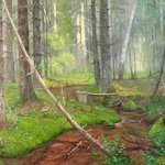 stream in the forest By Alexander Bezrodnykh