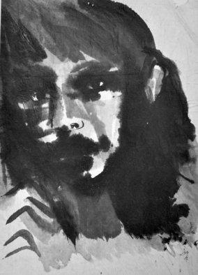 Alex Solodov Artwork The Look, 2010 Ink Painting, Portrait