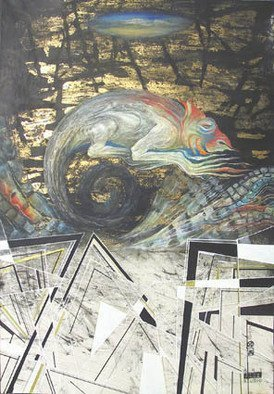 Alexander Ustinoff Artwork 'Hamelion', 2005. Acrylic Painting. Animals. ...