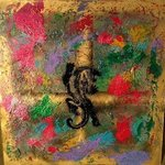 Mixed Media Abstract Post Modern Art By Alfredo Garcia Dragon Tiger 5, Alfredo Garcia