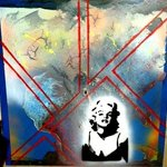 Mixed Media Abstract Post Modern Art By Alfredo Garcia The Blond Bombshell 4 By Alfredo Garcia